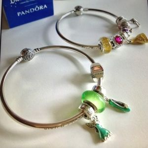 c0d885cb4 Pandora Disney Tinker Bell Charm Set of 4 NEW
